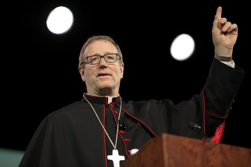Bishop Robert Barron addresses the 2015 World Meeting of Families in Philadelphia. Photo: CNS/Jeffrey Bruno