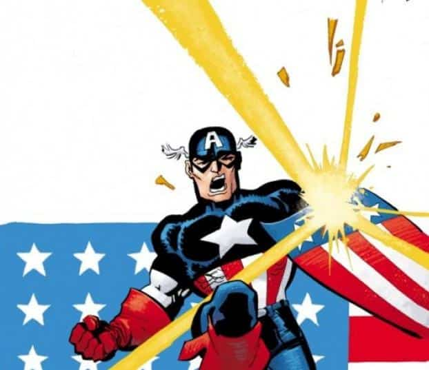 An image from the comic book Captain America: White. Photo: CNS/Marvel
