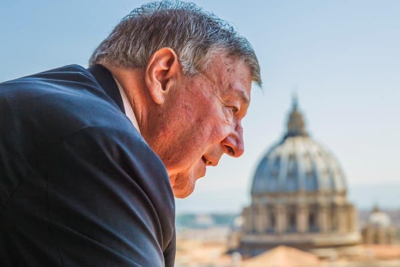 Cardinal George Pell, prefect of the Vatican Secretariat for the Economy, is pictured at the Vatican in this August 2014 file photo. Photo: CNS/Robert Duncan