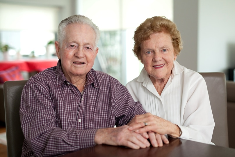 Bruce and Pauline Creenaune this year celebrate 65 years of marriage. Photo: Daniel Hopper