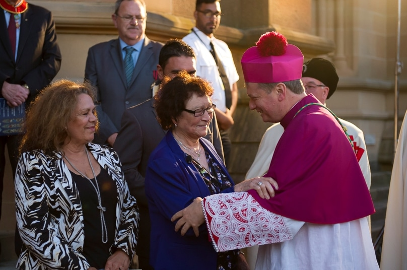 Thousands turned out to see Archbishop Anthony Fisher installed as the ninth Archbishop of Sydney on 12 November, 2014. Photo: Giovanni Portelli