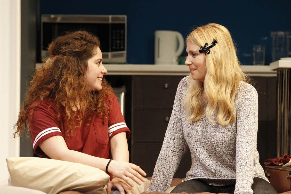 From left: Maria Angelico (Daphna) and Anna Burgess (Melody) in Bad Jews.