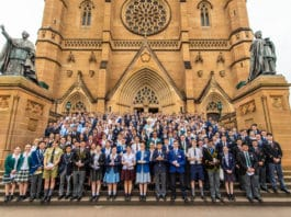 Student leaders at St Mary's Cathedral