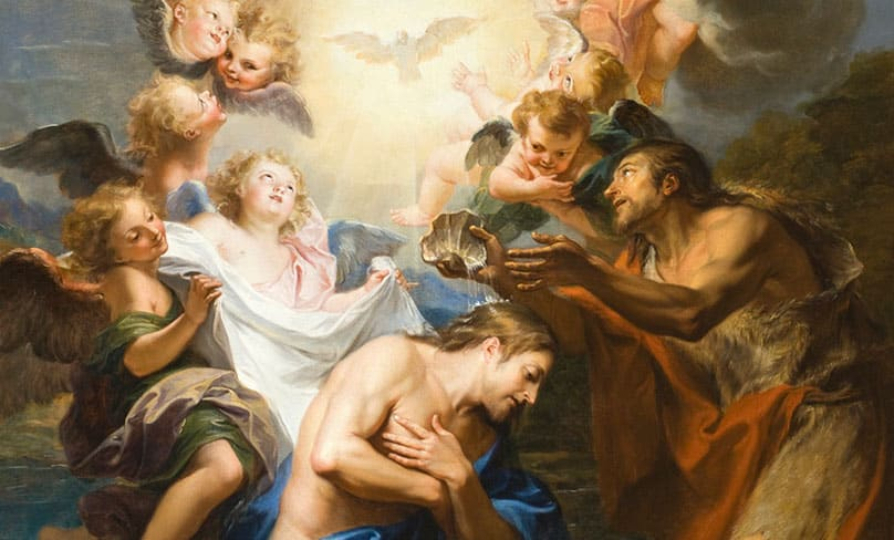 The Baptism of Christ by Antoine Coypel, circa 1690. Photo: Wikimedia Commons
