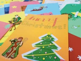 Some of the hand-made Christmas cards received at St Felix. Photo: Mathew De Sousa