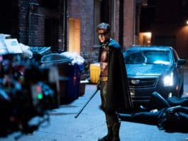 Brenton Thwaites broods as Robin in Season 1 of the Netflix series Titans. Photo: Courtesy of Warner Bros / Netflix