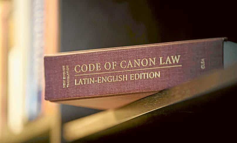 The Code of Canon Law is the starting point at the heart of the administration of a parish, says Fr Richard Waddell. Photo: CNS