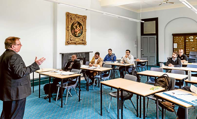 A class in session at CIS's leafy Strathfield campus. The new course on Canon Law will be especially useful for parishes and schools. Photo: Alphonus Fok