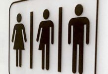 Gender Bathroom Signs. Photo: CNS photo/John G. Mabanglo, EPA