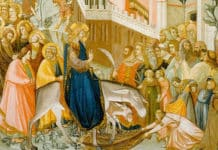 Entry of Christ into Jerusalem (1320) by Pietro Lorenzetti. Photo: Wikimedia Commons/Public Domain