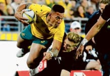 Israel Folau at the 2017 Rugby Championship. Photo: Flickr/www.davidmolloyphotography.com