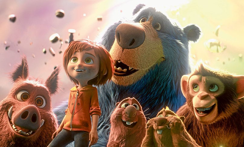 The young June is joined by her fury friends from Wonderland in Wonder Park. Photo: CNS/Paramount Animation