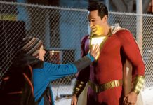 Jack Dylan Grazer and Zachary Levi star in a scene from Warner Bros. Shazam. Photo: CNS photo/Warner Bros.