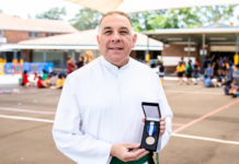 Br Nicholas Harsas 30 years in education - It's the children that makes teaching so enjoyable for me. PHOTO: Alphonsus Fok