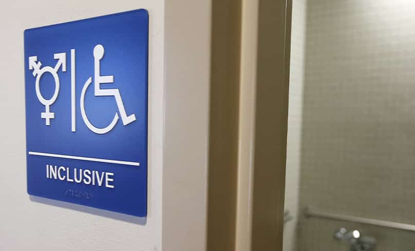 A gender-neutral bathroom is seen in this Sept. 30, 2014, file photo, at the University of California, Irvine. Photo: CNS photo/Lucy Nicholson, Reuters