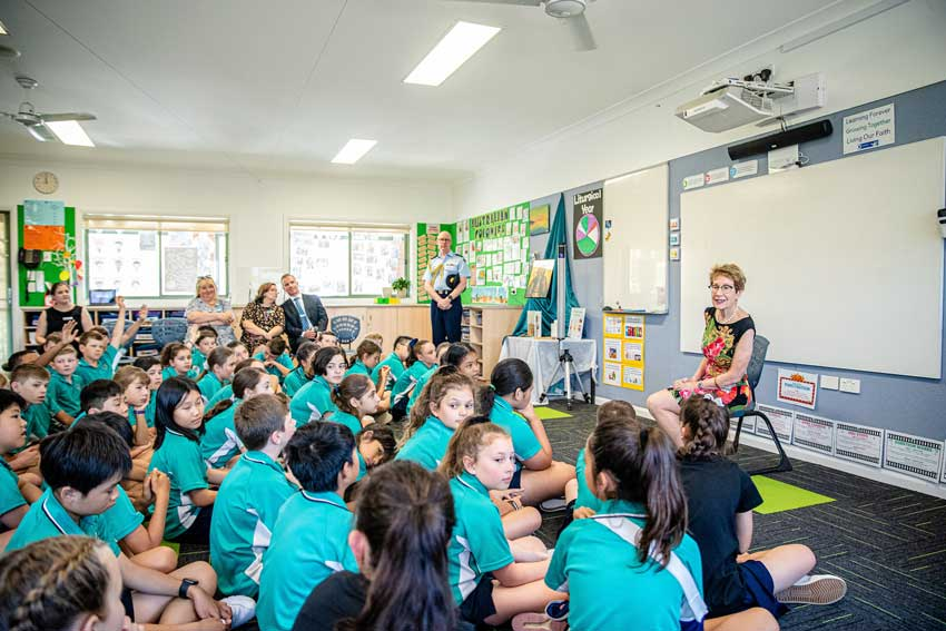 NSW Governor visits childhood school