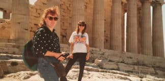 MGL Sister Judy Bowe travelled to Amsterdam, Athens, Salzburg and Monaco with her best friend and cousin Alanna Hughes in 1990. Photo: Supplied
