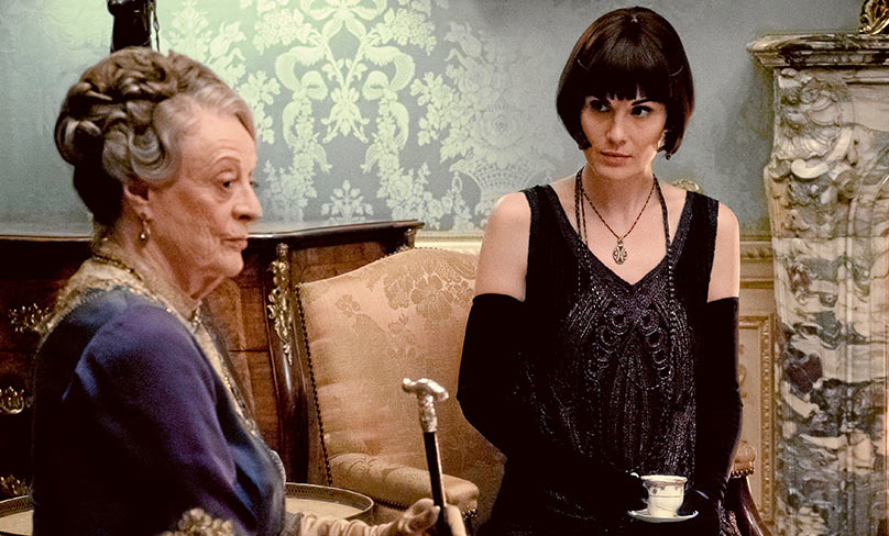 Dame Maggie Smith with Michelle Dockery is endlessly witty. Photo: CNS, focus features