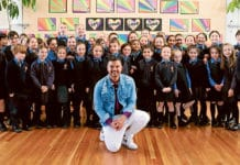 Guy Sebastian made the day one that students at St Joan of Arc's Primary in Haberfield will never forget when he dropped by unannounced.